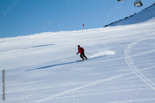 Fotobehang Wintersporten skier, extreme winter sport