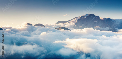 Photo Stands Mountains Italian dolomites