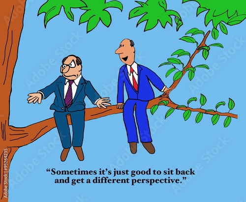 Business Cartoon Showing Two Businessmen Sitting Outside On A Tree Limb Sometimes It S Just Good To Sit Back And Get A Different Perspective Buy This Stock Illustration And Explore Similar Illustrations This is the second most viewed and commented episode of the series, behind eyes cold lemonade. businessmen sitting outside