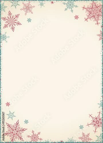 Vintage Christmas Frame Illustration Vector Illustration
