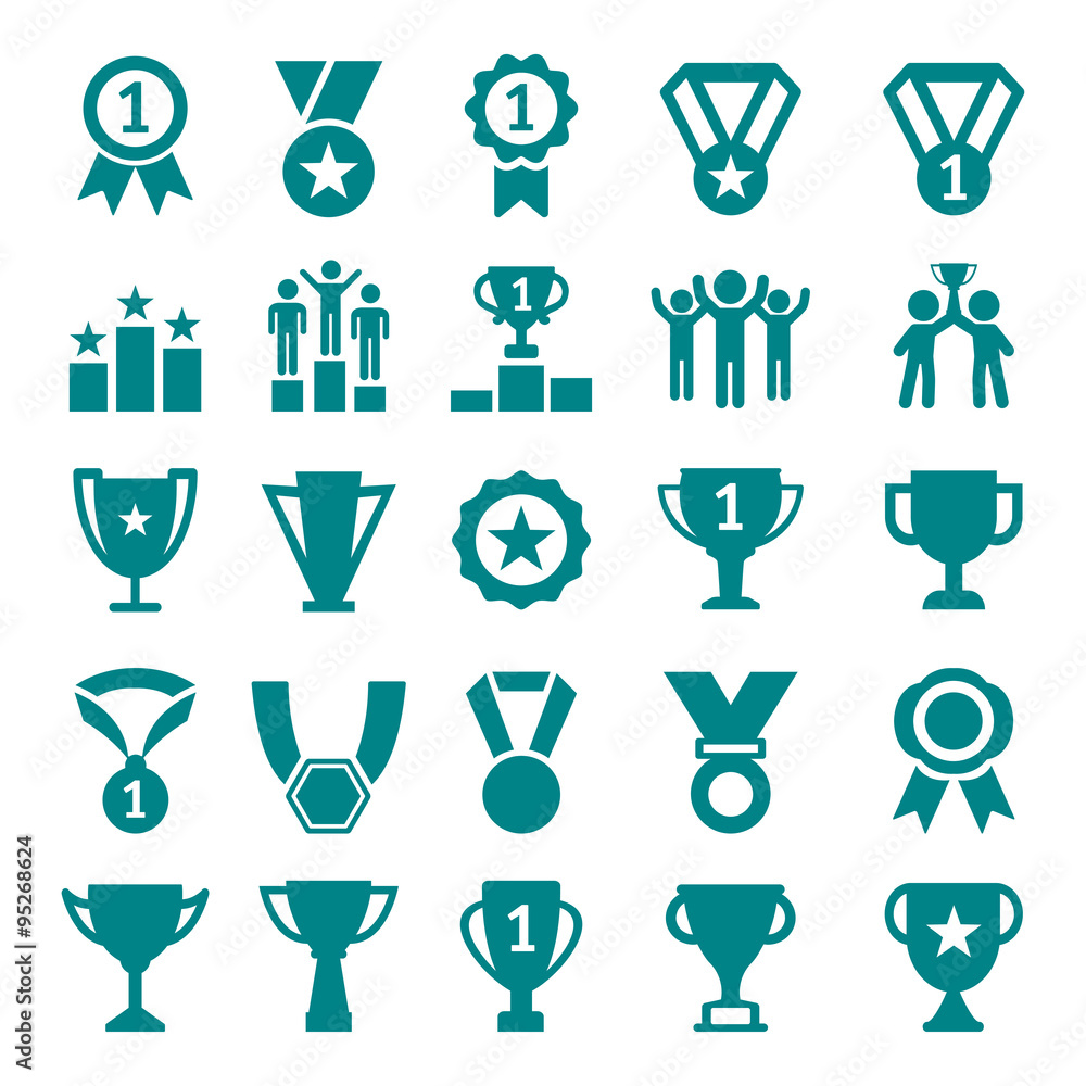 Fototapeta Winner Victory Icon Set