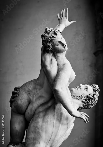 Cuadros en Lienzo Antigua escultura de La Violación de las Sabinas