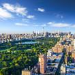 Leinwanddruck Bild Central Park aerial view, Manhattan, New York;