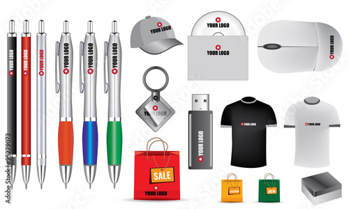 Fotografia  Blank isolated vector promotion objects for your design.