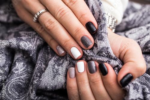 Staande foto Manicure Women's hands with a stylish manicure