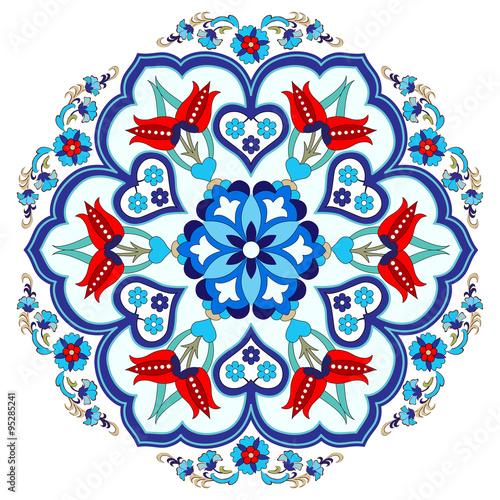 Fotografia  Antique ottoman turkish pattern vector design three