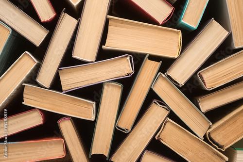 Photo Stack of old hardback books