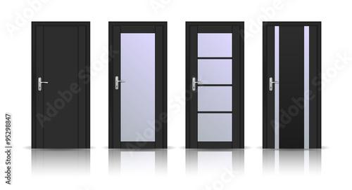 Fotografie, Obraz  Doors. Set of Interior doors.