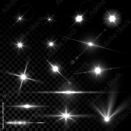 Obraz Realistic vector glowing lens flare light effect - fototapety do salonu
