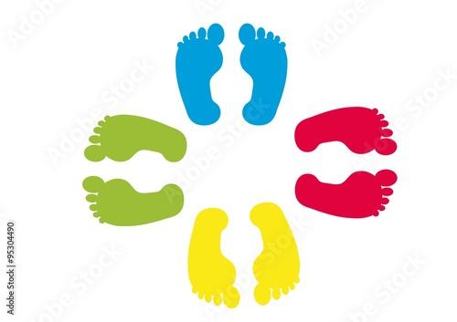 Fotografie, Obraz kształty,dziecko,stopy,narodziny