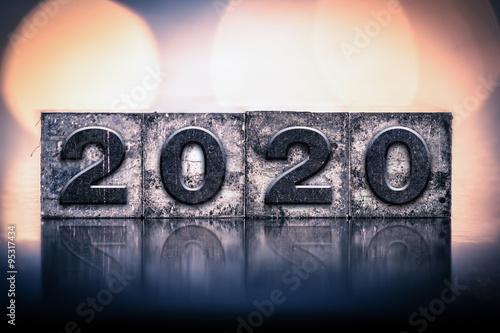 Fotografia  2020 Concept Vintage Letterpress Type