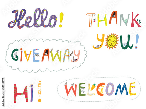 Hello welcome and other greeting words design set buy this stock hello welcome and other greeting words design set m4hsunfo