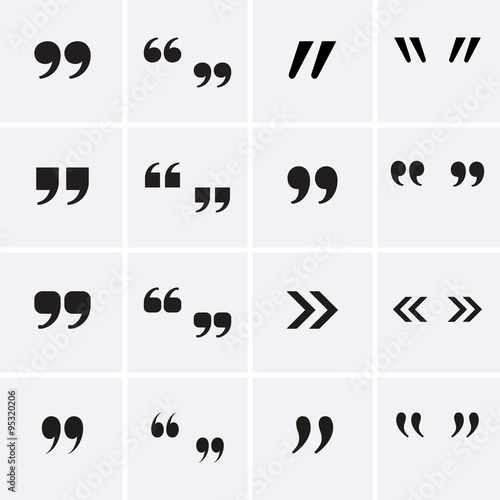 Fotomural  Quote Sign Icons