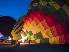 Hot Air Balloons Being Filled ...