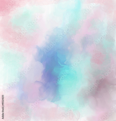 Fotografie, Obraz  background delicate pastel color haze blurred