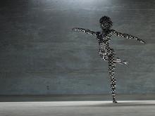 Checker Board Woman In Dance Pose