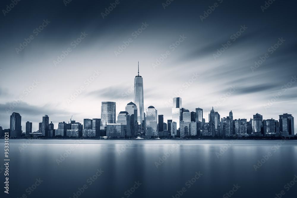 New York City Lower Manhattan with new One World Trade Center