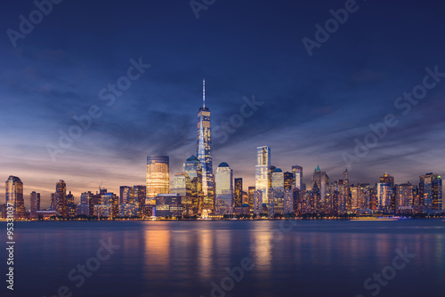 New York City - Manhattan after sunset - beautiful cityscape