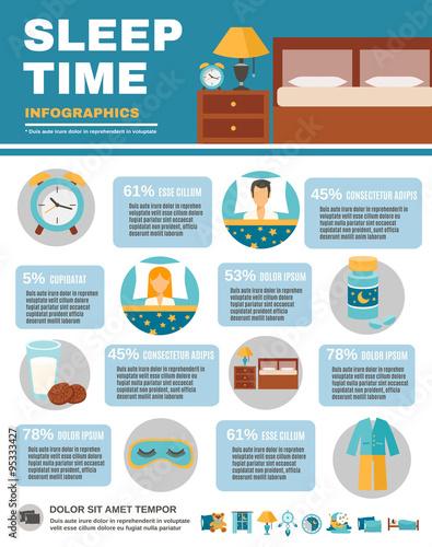 Photo  Infographic Sleep Time
