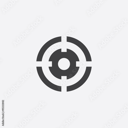 Fotomural optical sight cutted identity template icon
