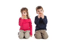 Twins Eating Cookies