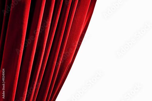 Fotografía  Cortina roja cerrada - aislado