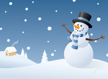 Contented Snowman