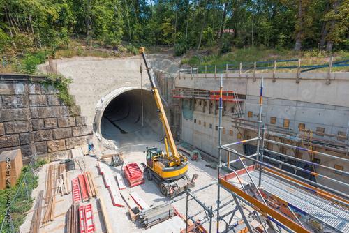 Poster Tunnel Erlangen Burgbergtunnel Bau