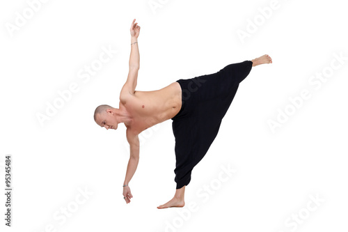 Fotografie, Obraz  Yoga. Image of middle-aged man performs asana