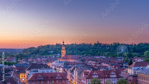 Obraz na plátně Erlangen Altstadt mit Bergkirchweih-Riesenrad