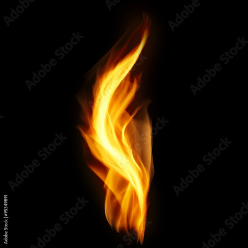 Tuinposter Vuur Flame Isolated