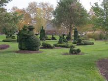 Multiple Topiary Figurines