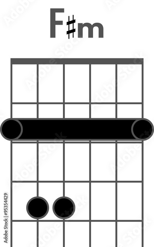 Guitar Chord Diagram To Add To Your Projects F Sharp Minor