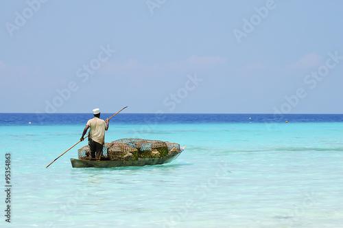 Foto op Canvas Zanzibar Merchant Transporting Goods - Zanzibar - Tanzania