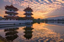 Twin Pagodas At Chinese Garden...