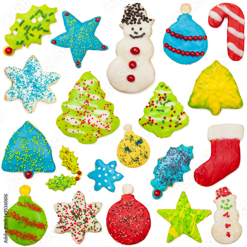 Iced Christmas Cookie Collection Poster