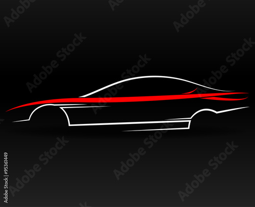 Abstract Sports Car Outline Buy This Stock Vector And Explore