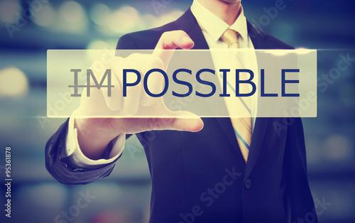 Fotografie, Obraz  Business man holding Possible