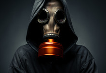 Male In A Gas Mask