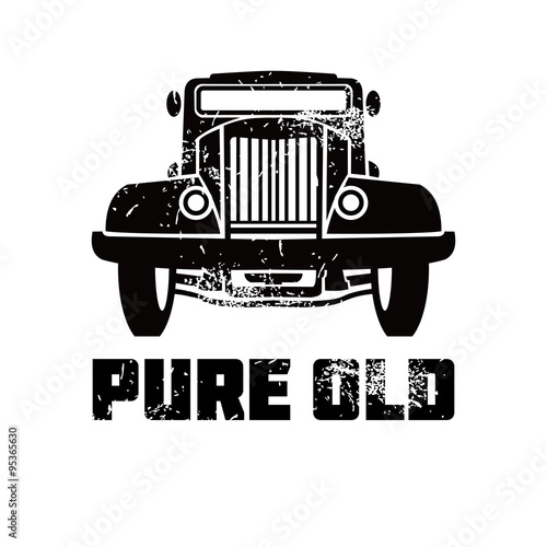 Poster  an old car vector image
