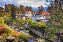 Autumn At Szklarska Poreba Town In Poland