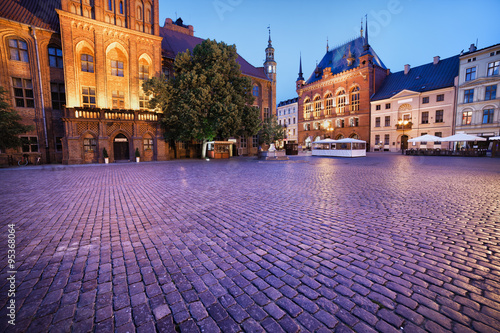 Evening at Old Town Square in Torun