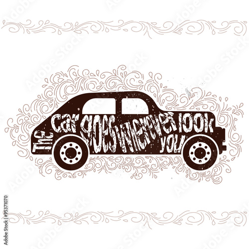 Inspirational quotes about cars - Buy this stock vector and