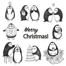 Vector Christmas Postcard With...