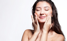 Woman Happy To Scrub Cleanses ...