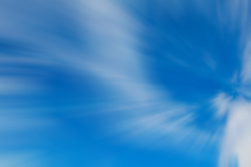Motion blur abstract background - fast moving in the sky