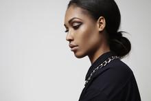 Beauty Latin Woman's Profile Portrait