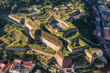 Aerial View Of The  Historic Fortress In Klodzko City