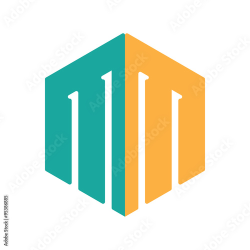 M And M Hexagonal Logo Template Buy This Stock Vector And Explore