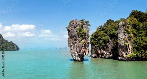 Aluminium Prints Blue James Bond Island on Phang Nga Bay, Thailand